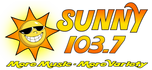Sunny 103.7 Logo More Music More Variety